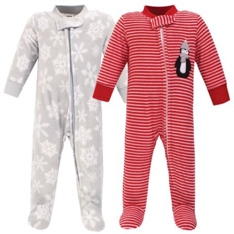 Kit macacao 2 pecas - 3/6 meses Hudson Baby Fleece Plush - R$ 139,90 unissex