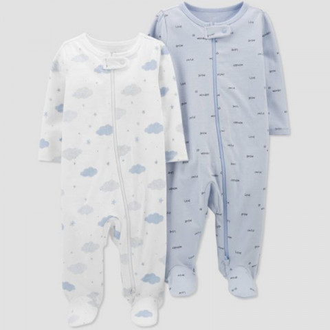 Kit Macacao Just one you by CARTERS MALHA - 9 meses - R$ 129,90 nuvem azul