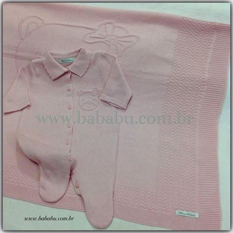 Kit Saida de Maternidade P - rosa ursinha