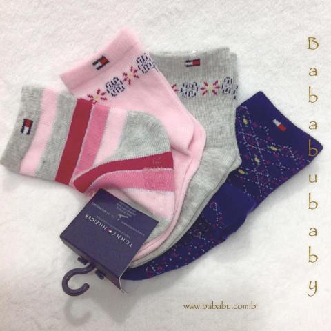 Kit 4 pares de meias Tommy Hilfiger - 12-24 meses - R$ 99,90