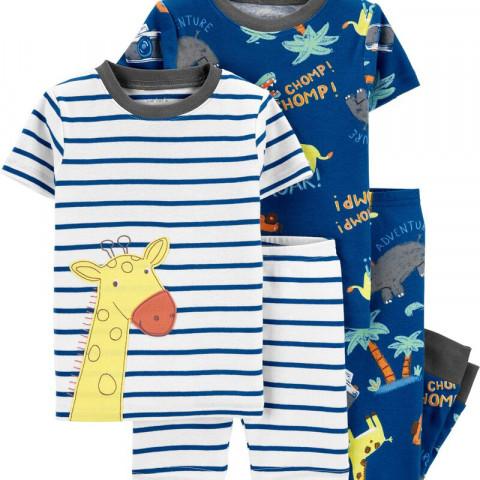 Kit Pijama CARTERS - 4 peças - 24 meses - R$ 129,90 girafa