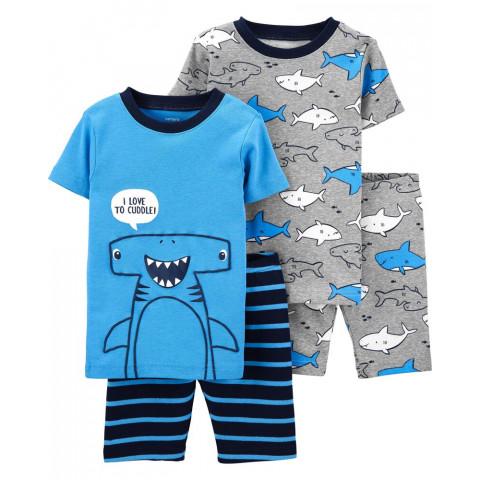 Kit Pijama CARTERS - 4 peças - 5 anos - R$ 159,90 Tubarao