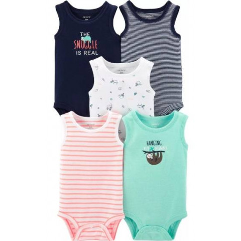 Kit 5 bodys Carters - 9 meses - R$ 109,90 regata