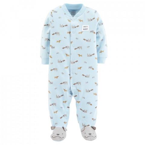 Macacão CARTERS malha - 6-9 meses - R$ 69,90 azul claro