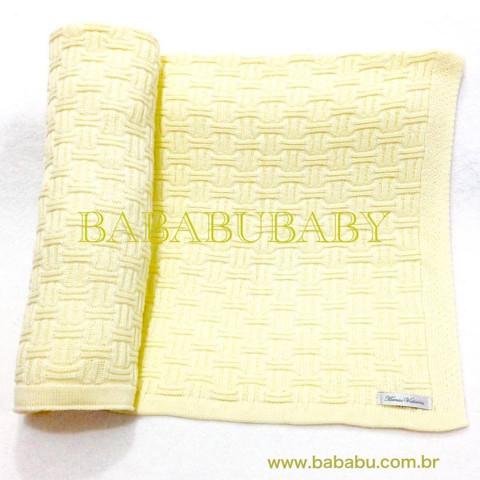 Manta amarela colo tijolinho - DE R$ 139,90 POR R$ 89,90