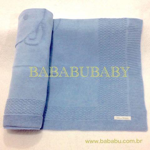 Manta azul urso grande colo  - DE R$ 139,90 POR R$ 119,90