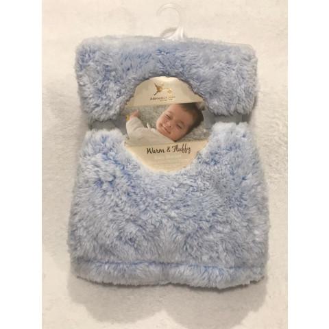 Manta Soft & Shimmery Adirondack Baby 76cmx102cm - R$ 99,90 azul bebe