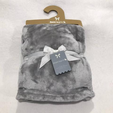 Manta Monlapin Plush - R$ 109,90 - 76 x 102 cm cor cinza neutra
