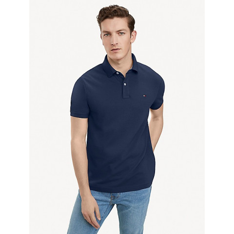 Polo TOMMY HILFIGER S small (P) Adulto  - R$ 189,90 marinho (Slim FIT)