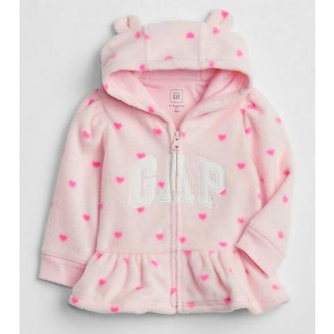 Moletom GAP fleece. 6/12 meses - R$ 129,90 rosa coracao