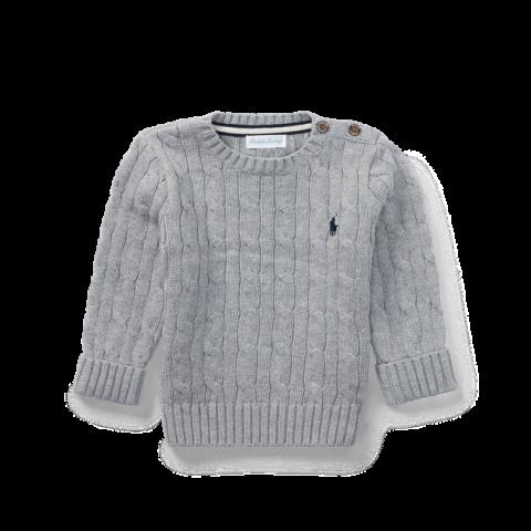 Cardigan Ralph Lauren - 9 meses - R$ 189,90 cinza