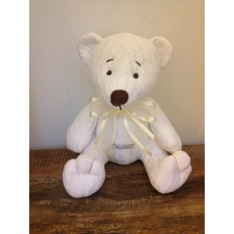 Urso de linha Branco - R$ 129,90