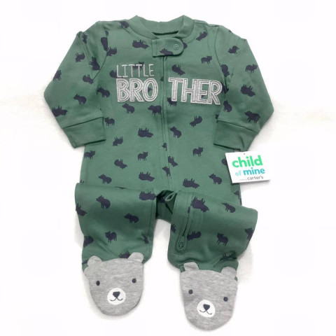 Macacao Malha Carters by child of mine - 3/6 meses - R$ 79,90 urso verde