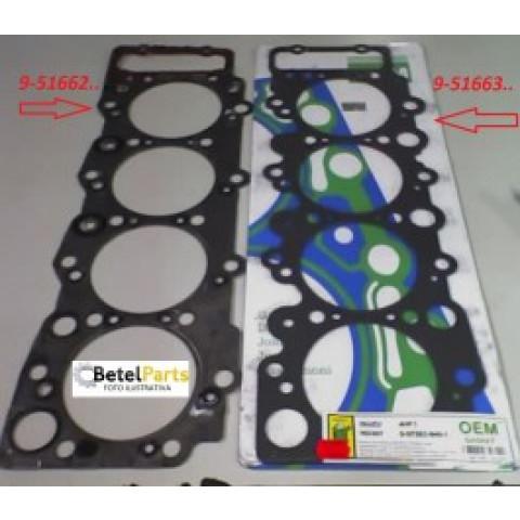 JUNTA CABECOTE  CAMINHAO GMC 7.110 MOTOR ISUZU 4.3 8v. 4HF1 112mm  CHAPA METALICA C/1,8mm