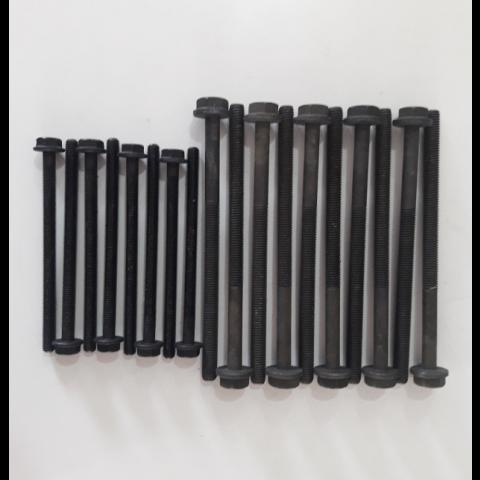 PARAFUSO DE CABECOTE FORD TRANSIT 2.4 8v. 06/..  DURATORQ ZSD-424 DIESEL 2402cc  (USA 18 PECAS)  10 PEÇAS COMP. S/ CAB. =160mm x ROSCA =M10 /ALTURA DA CABEÇA =10mm /   8 PEÇAS COMP. S/ CAB. =119,5mm x ROSCA =M8 /ALTURA DA CABEÇA =8mm