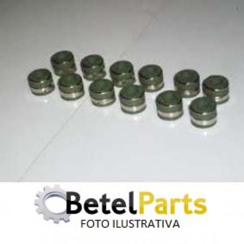 RETENTOR P/HASTE 6mm VALVULA FIAT DUCATO 2.3 16v. TJD 10/.. MULTIJET F1AE  /IVECO DAILY 3.0 16v. 07/.. DOHC  P/EX.GUIA 10,5mm x COMPR. 18,8mm x FURO 5,3mm x PRATO 21,75mm