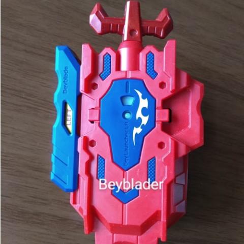 Beyblade Burst Launcher LR(Left/ Right ) Vermelho com Azul - Takara Tomy - Recondicionado