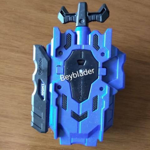 Beyblade Burst Launcher LR(Left/ Right )Azul com preto - Takara Tomy - Recondicionado