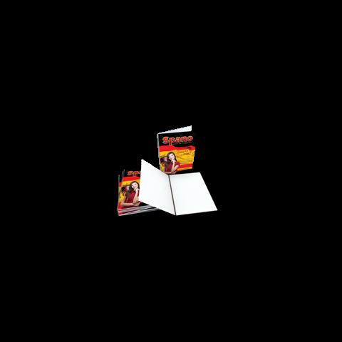 10 CADERNOS A5 - 96 FOLHAS - CAPAS SUPREMO 300GR - UV TOTAL FRENTE