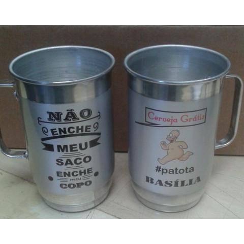 CANECA CHOPP DE ALUMÍNIO 680ML - SUBLIMAÇÃO (MET43857)
