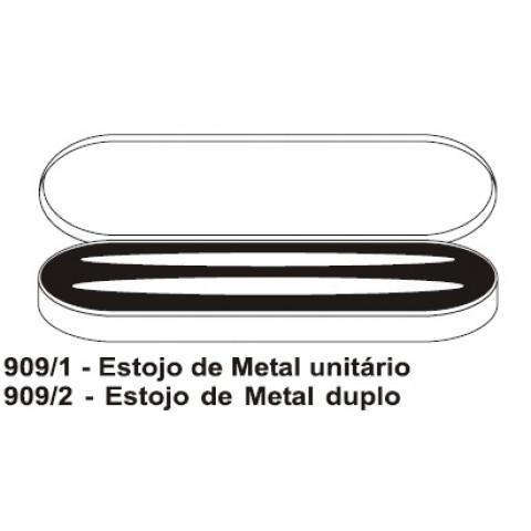 ESTOJO DE METAL PARA CANETA - DUPLA (DMB909/2)