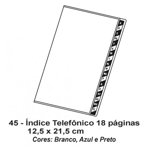 INDICE TELEFONICO 18 PAGINAS PVC 12,5X21,5 - SILKSCREEN (DMB45)