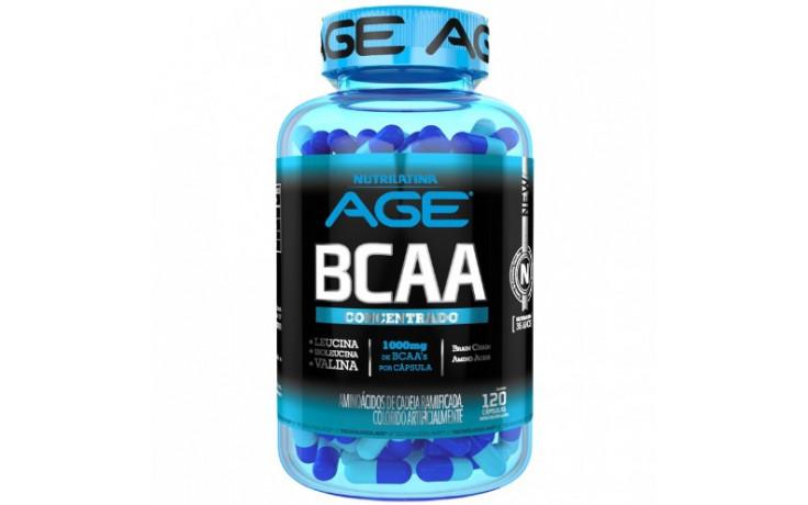 BCAA concentrado 1000mg - 120 cáps - NUTRILATINA AGE