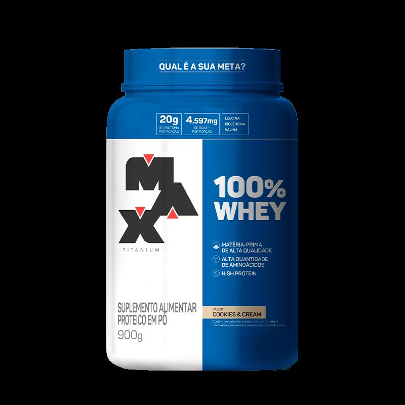 100% Whey Pote - 900gr - MAX TITANIUM