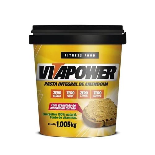Pasta de Amendoin 1,005kg - Crocante - VITAPOWER
