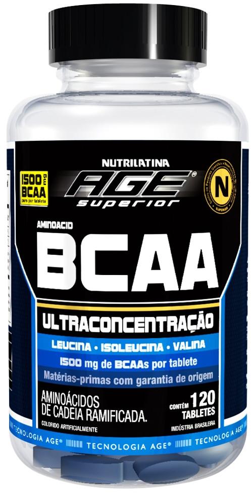 BCAA Ultraconcentrado 1500mg - 120 Tabs - NUTRILATINA AGE