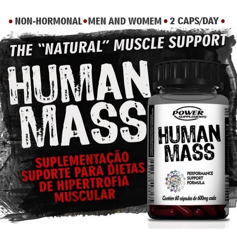 Human Mass - 60 Cápsulas - POWER SUPLEMENTS