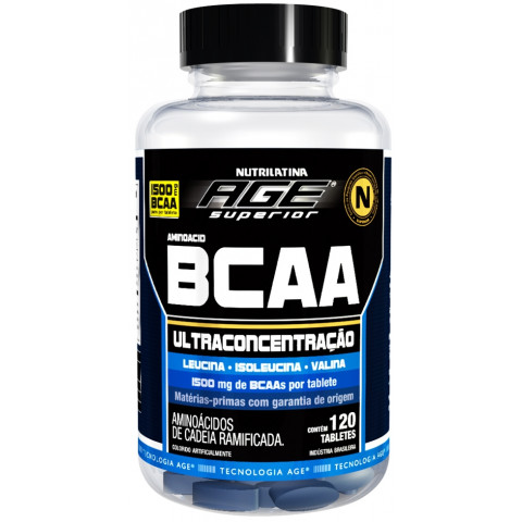 BCAA Ultraconcentrado 1500mg - 120 Tabs - NUTRILATINA AGE