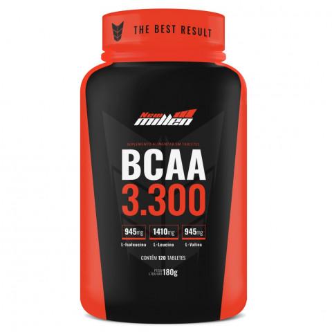 BCAA 3.300 - 120Cáps - NEW MILLEN (Milly)