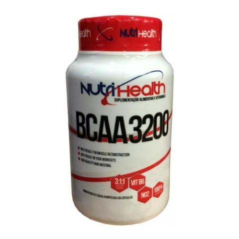 BCAA 3.200 - 120 Cáps - NUTRI HEALTH
