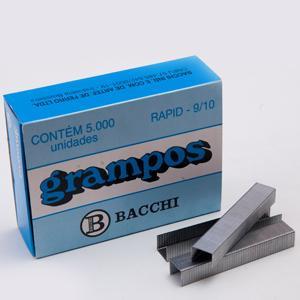 GRAMPO RAPID 9/10 GALVANIZADO C/ 5000 UN. BACCHI