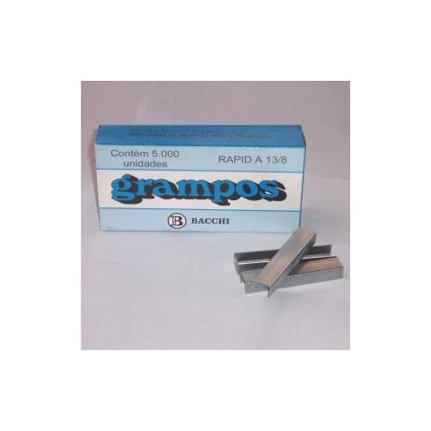GRAMPO RAPID A13/8 GALVANIZADO C/ 5000 UN. (BACCHI)
