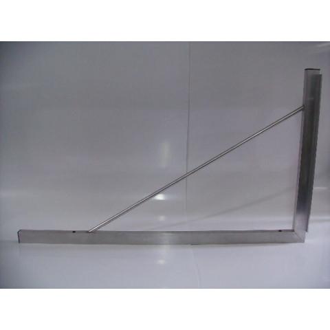 Esquadro de Tubo de Alumínio de 90 Graus C/ Batente - Tamanho 0,70 x 1,20 mt