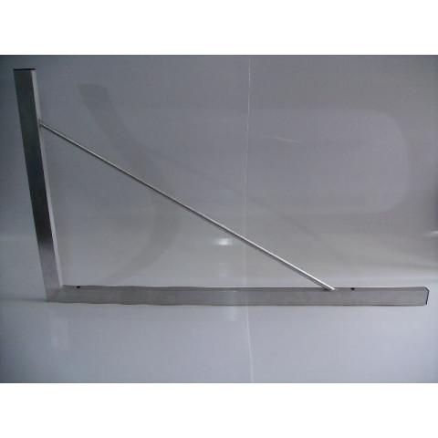 Esquadro de Tubo de Alumínio de 90 Graus - Tamanho 1,00 x 1,20 mt