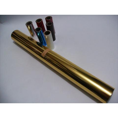 Fita Para Hot - Stamping Dourada KLN 951 rolo com 3,5 cm de largura.