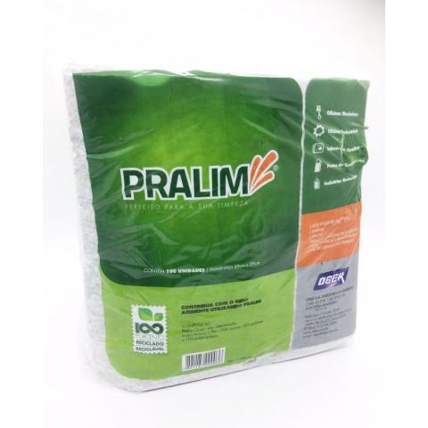 PRALIM -  TOALHA INDUSTRIAL MED. 0,29 X 0,29 PACOTE 100 Toalhas