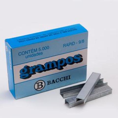 GRAMPO RAPID 9/8 GALVANIZADO C/ 5000 UN. (BACCHI)