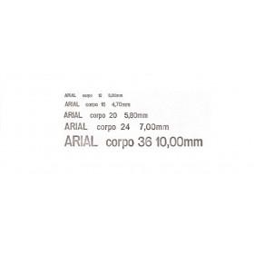""""""" Tipos """" (letras de metal) para  Impressão Hot Stamping (ARIAL CORPO 20)"""