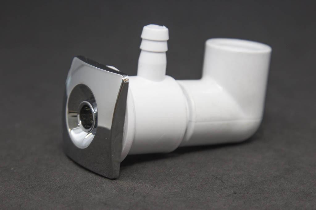 Mini jato quadrado PVC reto anel1 cromo
