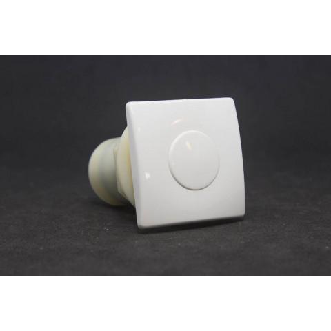 Botão acionamento canopla quadrada branco