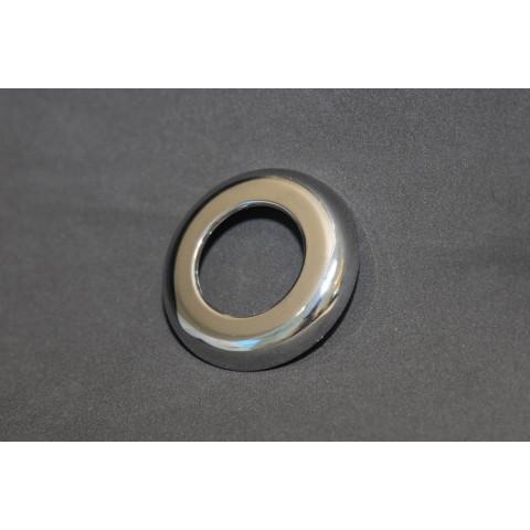 Canopla botão pneumático cromada