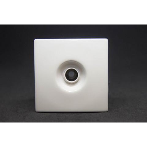 Jato transversal quadrado branco