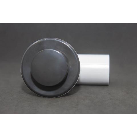 Válvula de fundo recartilhada com cotovelo ofurô 2 anéis preta