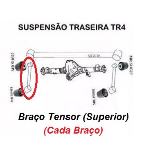 Braço Tensor Superior com Buchas para (cada braço) - Pajero TR4 e Pajero IO