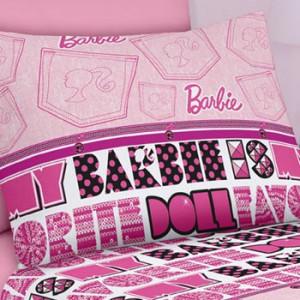 7bf636883a Jogo de Lençol Solteiro 150 fios Barbie Jeans - Santista CasaEstillo