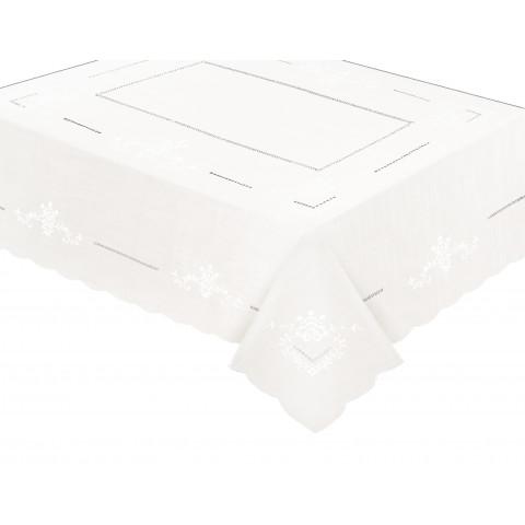 Toalha de Mesa Richelieu Branca